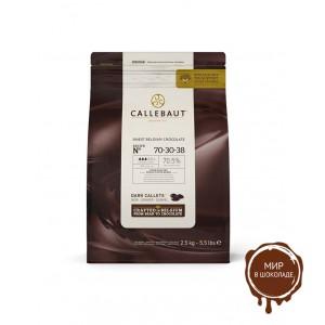 ГОРЬКИЙ ШОКОЛАД В ГАЛЕТАХ Callebaut, 70,4 % какао, 0,4 кг.