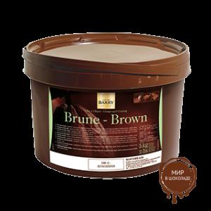 ТЕМНАЯ ГЛАЗУРЬ ДЛЯ ПОКРЫТИЙ БРЮН «Pate a glacer» 18% какао, 5 кг., Cacao-Barry, Франция