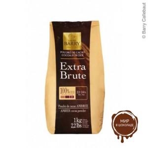 Какао-порошок Extra-brute темно-красный 22-24% жирность, Cacao Barry, 1 кг.