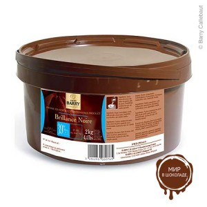 ТЕМНАЯ БЛЕСТЯЩАЯ ГЛАЗУРЬ БРИЛЛИАНС НУАР 39% какао, Cacao-Barry, Франция, 2 кг.