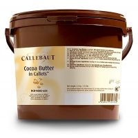 КАКАО-МАСЛО, монеты, Callebaut, 3 кг.