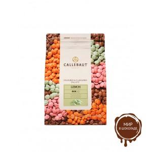 ЗЕЛЕНЫЙ ШОКОЛАД СО ВКУСОМ ЛИМОНА, галеты, Callebaut/Бельгия/, 2,5 кг.