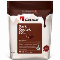 Темный шоколад в галетах Koutek Сarma Швейцария, 60% какао, 1,5 кг.