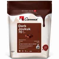 Горький шоколад в галетах Joukuk Сarma Швейцария, 70% какао, 1,5 кг.