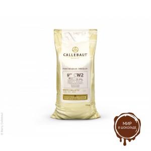 БЕЛЫЙ ШОКОЛАД в галетах 25,9% какао, Callebaut /Бельгия/, 10 кг.