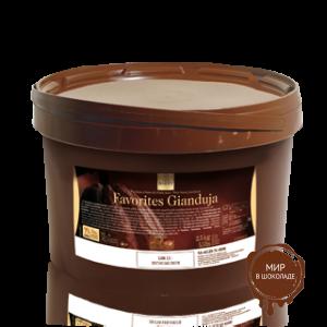 ДЖАНДУЙЯ  - молочная начинка для конфет, 75% молочного шоколада, 25% фундука, 5 кг