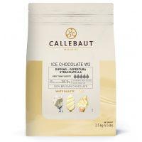 Шоколад белый для мороженого Callebaut Ice Chocolate White 38.5% (Бельгия), 2.5 кг.