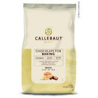 ШОКОЛАДНЫЕ КУСОЧКИ ТЕРМОСТОЙКИЕ БЕЛЫЕ, Саllebaut, 2,5 кг.