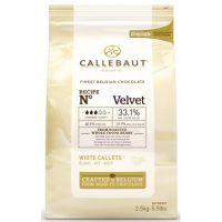 БЕЛЫЙ ШОКОЛАД В ГАЛЕТАХ 33,1% ВЕЛЬВЕТ, Callebaut, 2,5 кг.