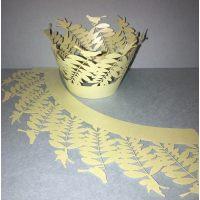 Ажурные капсулы листочки с птичками, высота 5 см.