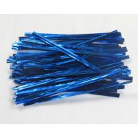 Застежка для пакетов синяя (100 шт)