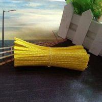 Застежка для пакетов желтая в горох  (100 шт)