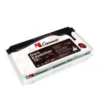 Горький шоколад в блоках Edelbitter Сarma Швейцария, 70% какао, 2 кг.
