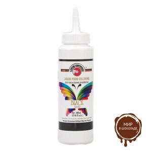 Жидкий пищевой краситель черный FO Liquid Food Coloring Black, 280 мл.