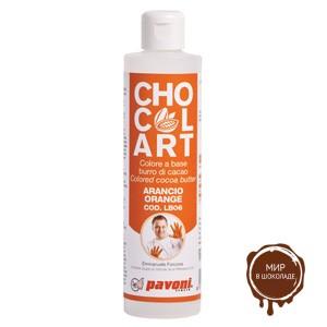 Какао-масло окрашенное Оранжевое 100 гр (флакон 1 шт.)