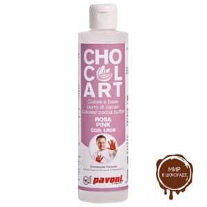 Какао-масло окрашенное Розовое 100 гр (флакон 1 шт.)