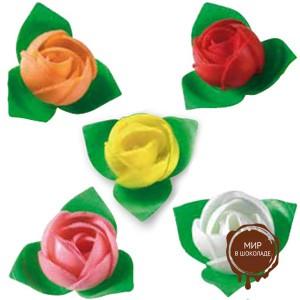 Вафельный цветок Роза ассорти, короб 200 шт.