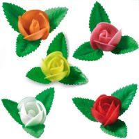 Вафельный цветок Роза ассорти (короб 100 шт.)
