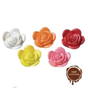 Вафельный цветок шиповника ассорти (короб 300 шт.)