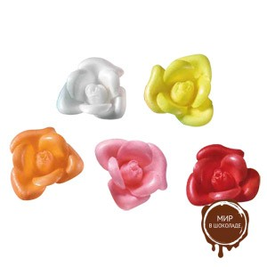 Вафельный цветок Бутон розы ассорти (короб 100 шт.)