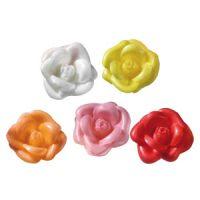 Вафельный цветок Бутон розы большой ассорти (короб 100 шт.)