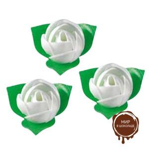 Вафельный цветок Роза белая, короб 200 шт.