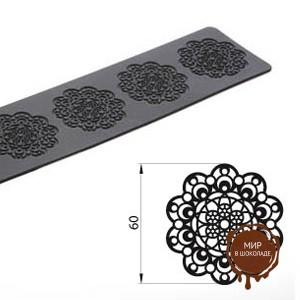 Коврик силиконовый рельефный КРУЖЕВО узкий, 1 шт.