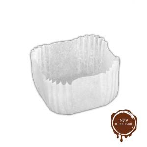 Капсула бумажная квадрат 33х33х18 мм белая, мешок 2000 шт.
