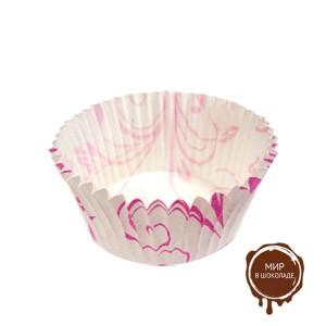 Капсула бумажная круглая 45х26 мм. розовая (короб 10000 шт.)