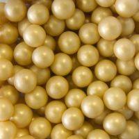 Шарики сахарные  золото 6 мм перламутр, 0.5 кг.
