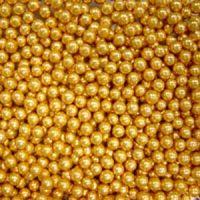 Шарики сахарные золотые 3 мм. (пакет 1 кг.)