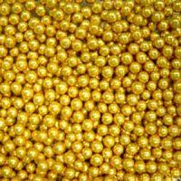 Шарики сахарные золото 3 мм. (пакет 1 кг.)