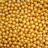 Шарики сахарные золотые 5 мм., пакет 1 кг.