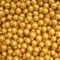 Шарики сахарные золотые 7 мм., пакет 1 кг.