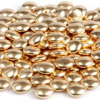 Украшение шоколадное  золотое КОНФЕТТИ, пакет 1 кг.