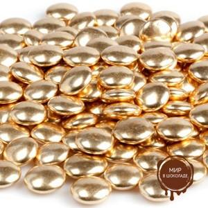 Украшение шоколадное  золотое КОНФЕТТИ (пакет 1 кг.)