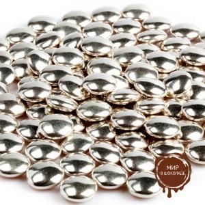 Украшение шоколадное  серебряное КОНФЕТТИ (пакет 1 кг.)