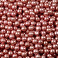 Шарики сахарные  красные 5 мм.металл,     1 кг.