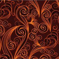 Трафаретный лист-пленка ДЕКОРШОК узор оранжевый,  пакет 17 шт.