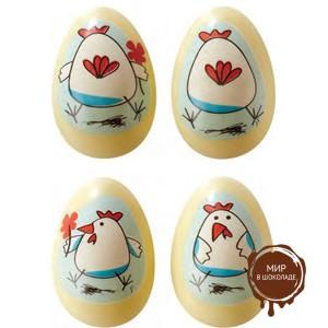 Форма-лист для дек. БЛИСТЕРШОК яйцо цыпленок (пакет 10 шт.)