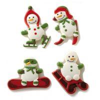 Форма-лист для декора БЛИСТЕРШОК снеговички,  короб 10 шт.