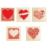 Форма-лист для декора БЛИСТЕРШОК сердца,  пакет 10 шт.