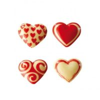 Форма-лист для декора БЛИСТЕРШОК сердечки,  короб 10 шт.