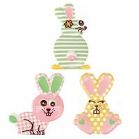 Форма-лист для декора БЛИСТЕРШОК крольчата,  пакет 10 шт.