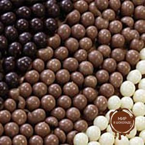 Украшение шоколадное ШАРИКИ КРАНЧ БЕЛЫЕ IRCA, 2 кг