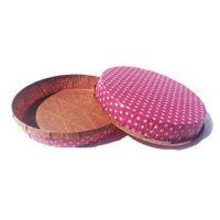 Форма для пирога розовая в горох, 300 шт.