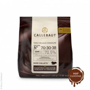 ГОРЬКИЙ ШОКОЛАД В ГАЛЕТАХ 70,5 % какао, Callebaut, 0,4 кг.