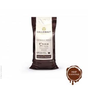 ГОРЬКИЙ ШОКОЛАД В ГАЛЕТАХ, 70,5 % какао, Callebaut Бельгия, 10 кг.
