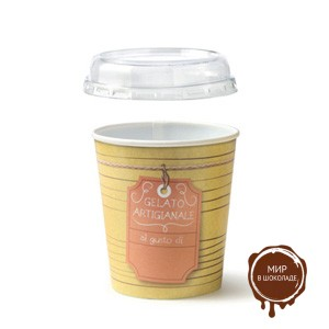 Контейнер для мороженого с крышкой круглый 500 мл,  150 шт.