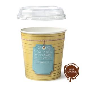 Контейнер для мороженого с крышкой круглый 1000 мл, 150 шт.